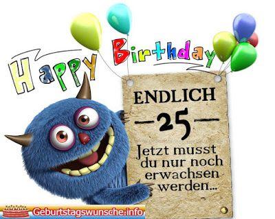 Spruche Zum 25 Geburtstag Gluckwunsche Zum 25