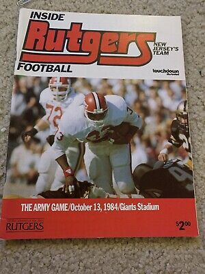 1984 Rutgers Army College Football Program In 2020 Football Program Army College College Football