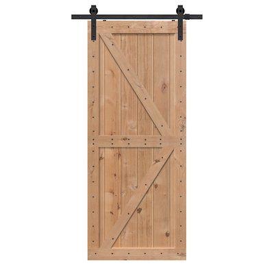 Barndoorz Panelled Wood Finish Double Z Barn Door Size 42 X 96 Finish Unfinished Glass Barn Doors Wood Barn Door Interior Barn Doors