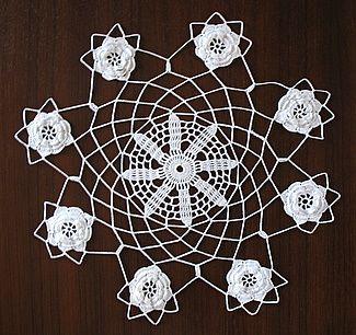 Free crochet rose pattern