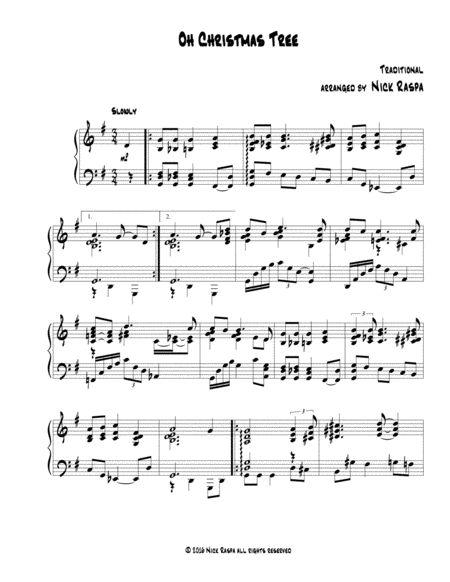 Oh Christmas Tree Jazz Piano Sheet Music Jazz Piano Digital Sheet Music