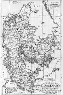 Danmark 1770 Gamle Kort Geografi Danmark