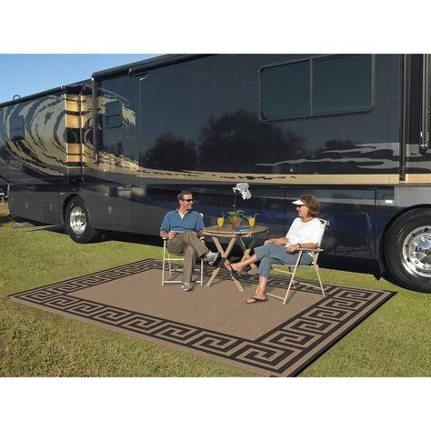 Camping Mats 9 X 12 Reversible Rv Patio Mat Outdoor Rug