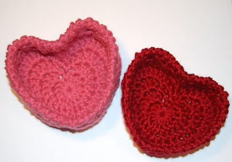 Hugs and Kisses ~ Heart Basket Crochet Pattern