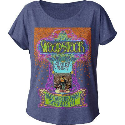 Woodstock Classic Max Yasgur S Women S Dolman T Shirt Fashion Clothing Shoes Accessories Women Womensclothing Ebay Link Festival T Shirts T Shirts For Women Woodstock