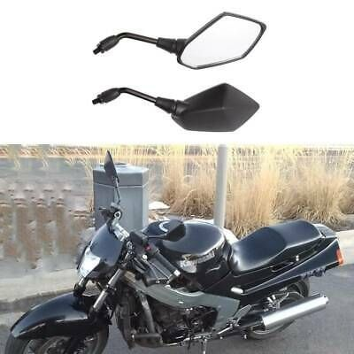 SKULL MOTORCYCLE REARVIEW SIDE MIRRORS 8-10MM FOR HARLEY CUSTOM CHOPPER BLACK