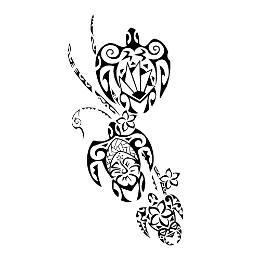 3 Turtles Family Tattoo Unity Tattoo Turtle Tattoo Tribal Turtle Tattoos