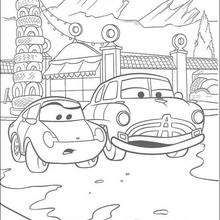 Cars Cars In The City Coloring Page Disney Coloring Pages