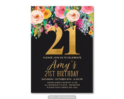 Free 21st Birthday Invitations Wording In 2019