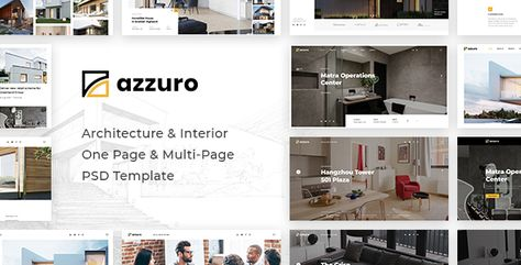 Azzuro | Architecture & Interior PSD Template | Stylelib