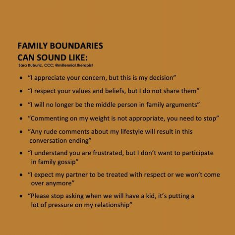 """Sara Kuburić, MA, CCC on Instagram: """"Sometimes we find it the hardest to implement boundaries with our family. We often have very set patterns, roles, and expectation within…"""""""