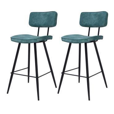 Chaise De Bar Texas Bleue 65 Cm Lot De 2 Tabouret De Bar Chaise Bar Chaise