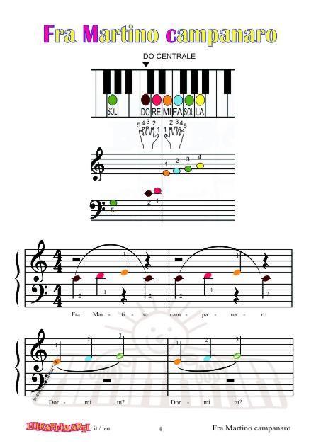 Fra Martino Campanaro Dormi Tu Grandi Note Colorate Per Pianoforte Nel 2020 Pianoforte Spartiti Musicali Attivita Musicali