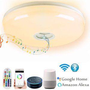 Wifiシーリングライト 高音質 照明器具 天井灯 Alexaとgoogle Homeで使用 音声コントロール 内蔵ブルートゥースステレオ スマホ 操作 ブルートゥース シーリングライト