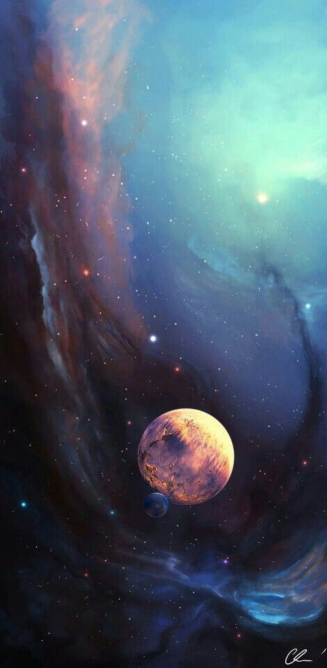//Carina Nebula.Lots of different colours colliding and flowing in deep waves and strokes #moon #stars