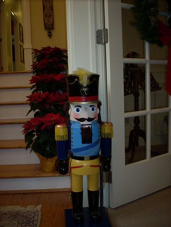 Great large nutcracker to welcome visitors