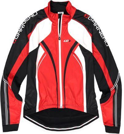 New Garneau Mens Cycling Glaze Jersey 2 Black//Red Size Medium