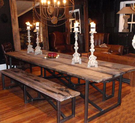 Salvaged Wood Dining Table (10ft) | Reclaimed Wood Dining Table, Vintage  Industrial And Industrial