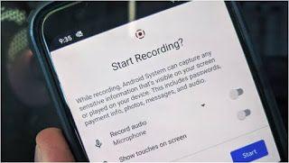 طريقة استخدام ميزة تسجيل الشاشة المضمنة في نظام اندرويد 11 Screen Recorder Android Records
