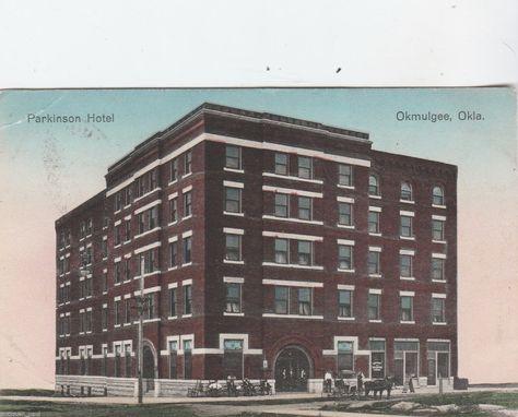 Okmulgee Oklahoma The Parkinson Hotel 1910 Ebay Victorian Pinterest