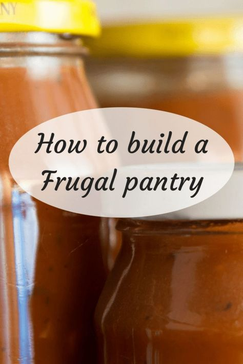 How to build a Frugal pantry to save money on family meals. #cookingonabudget #mealplanning