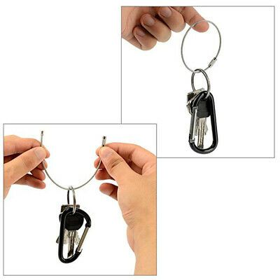 Carabiner Alloy Climbing Buckle Hook Key Chain Ring Practical Safe Clasp Outdoor