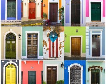 Doors Of Old San Juan Canvas Multiple Sizes Puerto Rico Etsy In 2020 Puerto Rico Art Puerto Rico Wall Art Prints