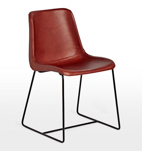 Bond Chair Cognac Leather Metal D1348 Leather Dining Chairs