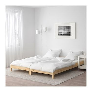 Utaker Stackable Bed With 2 Mattresses Pine Malfors Medium Firm 80x200 Cm Ikea Bed Spare Bed Small Room Design