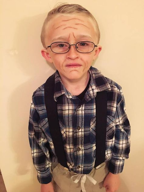 Day of School Fun! – All Things Crafty Kids Old Man Costume, Diy Costumes For Boys, Old Lady Costume, Boy Costumes, Carnival Costumes, School Spirit Days, 100 Days Of School, School Fun, School Parties