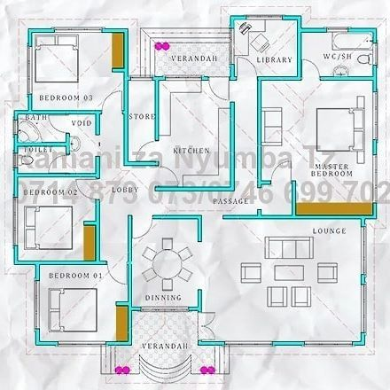 Pin By Haruna Mfumya On Mfumya Free House Plans Small Modern House Plans Home Design Floor Plans