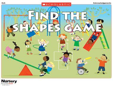 Can You Find All The Hidden Shapes In The Playground Scene Shape Games Microsoft Dynamics Education