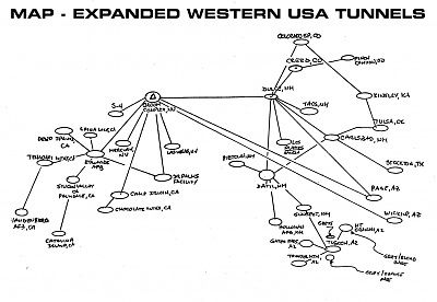 Deep Underground Military Bases Some Claim The US Black Budget Has - Map of underground tunnels in the us