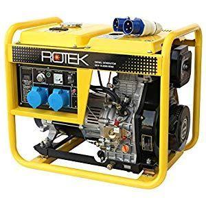 Rotek Diesel Stromerzeuger Gd4 1a 6000 5ebz 55 Kva 230v 50hz 1 Phasig Garten