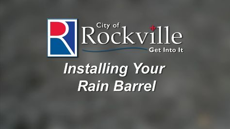 """Part 3 in the City of Rockville's RainScapes series, """"Installing Your Rain Barrel,"""" demonstrates how properly installed rain barrels save money, water, and help a garden grow. This video will show residents the steps to installing both a top-filling and side-filling rain barrel, as well as the importance of diverting the overflow water."""