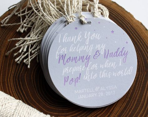 Baby Shower Favor tags Purple Baby Shower Baby Shower Favors Champagne Party Pop it when she pops Baby Shower Ideas Girl Baby Shower