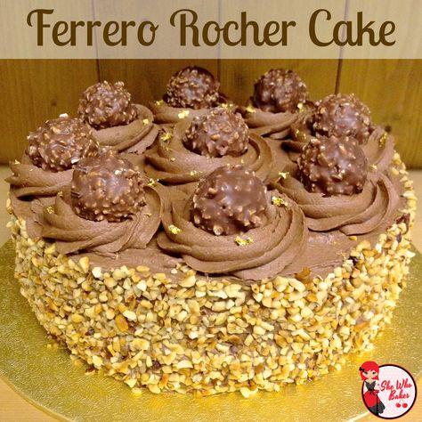 Love this ladies recipies Ferrero Rocher Cake - She Who Bakes