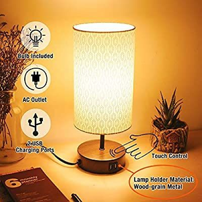 Amazon Com 3 Way Touch Control Dimmable Table Lamp Modern Bedside Nightstand La In 2020 Modern Table Lamp Dimmable Table Lamp Vintage Led Bulbs