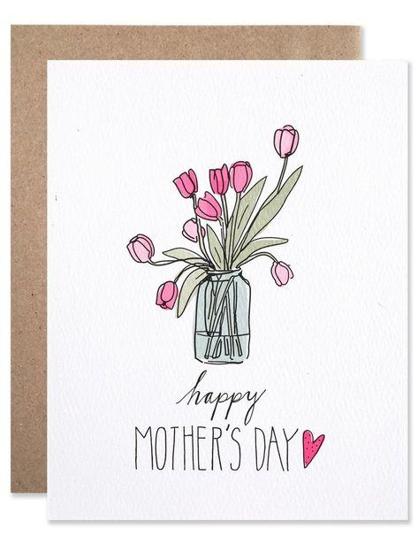 Carte Bonne Fete Zen.Mother S Day Tulips Art Carte Anniversaire Idees De Journal
