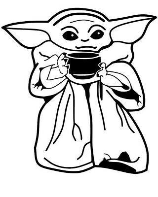 Star Wars Baby Yoda Custom Vinyl Decal Sticker 4 10 Ebay Star Wars Art Drawings Yoda Drawing Star Wars Baby