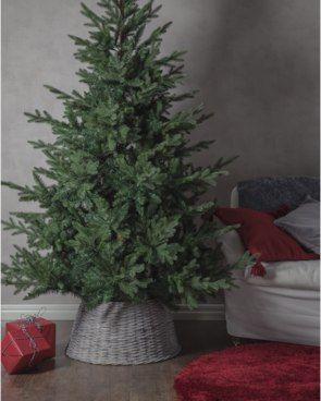 Weihnachtsbaum Rattan.Rattan Korb Es Weihnachtet Sehr Weihnachtsbaum Baum Und Rattan