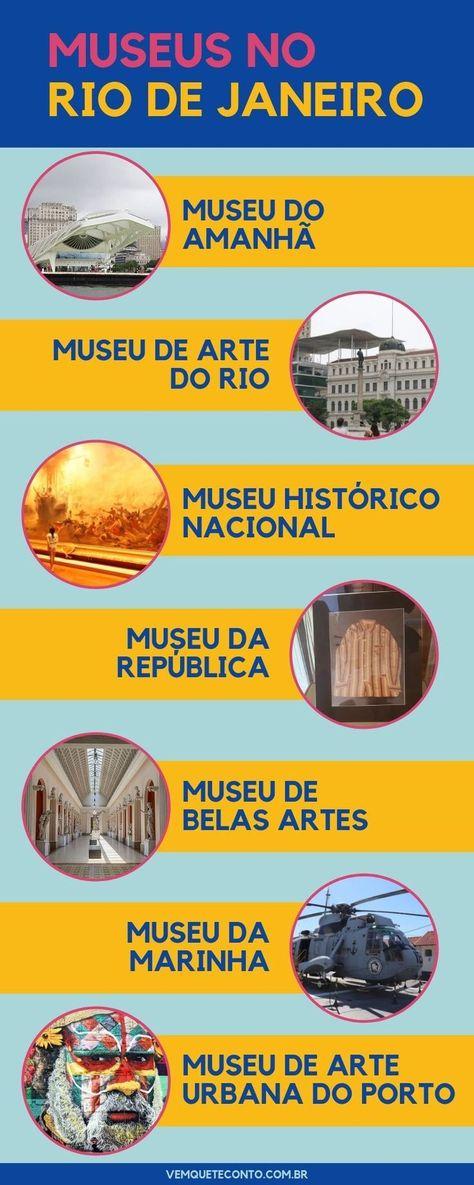 Selecionamos 7 museus imperdíveis no Rio de Janeiro. Muita história, arte e cultura para aproveitar o Rio de Janeiro além das praias, Cristo e Bondinho ) #riodejaneiro #museus #museudoamanha #viagem