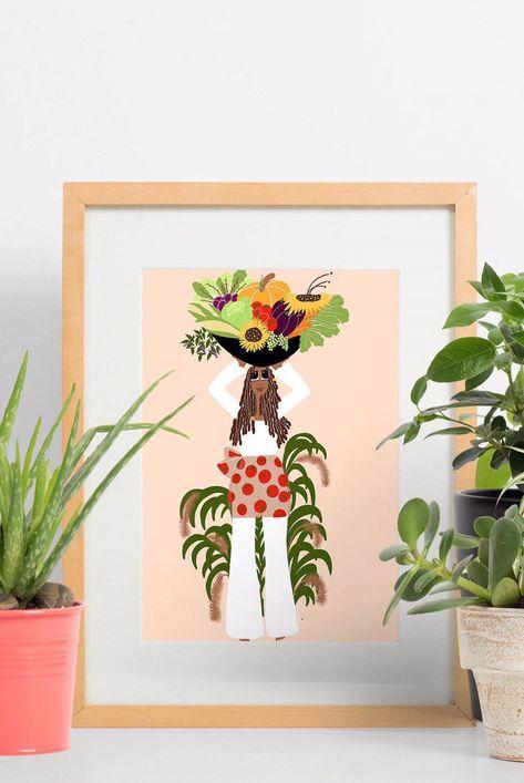 Lovely Gardener Art Print
