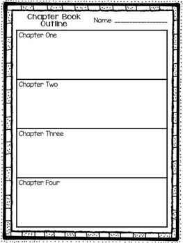 Chapter Book Outline Graphic Organizers Book Outline Chapter