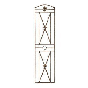 Benzara 68404 66 in. H x 17 in. W Metal Wal Decor [Kitchen] by Benzara. $60.01. Separating the two panels, there is a line made of metal and it features a circle on it.. The French design metal wall art has a lot of significance because of the remarkable association of. This 66 tall, 17 wide metal wall decor is a simple window-style design featuring Fleur-de-lis. The Fleur-de-lis is created at the center of the cross design created on the window.. The tall metal...