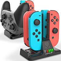 Fosmon Joy Con and Pro Controller Charging Dock 2-in-1 Dual