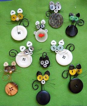 Creative Things To Do With Old Used Buttons In 2020 Button Crafts Crafts Button Creations
