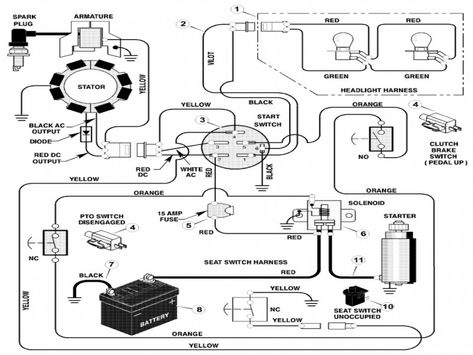 murray lawn tractor wiring diagram wiring forums circuito