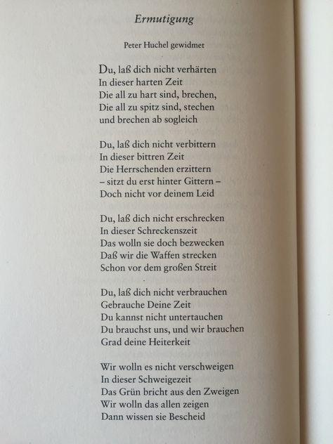"""gedichteausderwelt: """"""""Ermutigung"""" von Wolf Biermann """""""