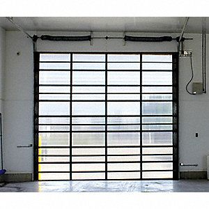 Survivor Full View Translucent Dock Door Opening Height 10 Ft Opening Width 12 Ft Insulated No Garage Door Design Garage Door Styles Garage Door Types